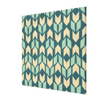 Toile Motif turquoise géométrique extérieur de flèche