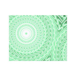 Toile Motif vert de cercles de ressort