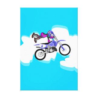 Toile Motocross enfant de l'équipement violette en