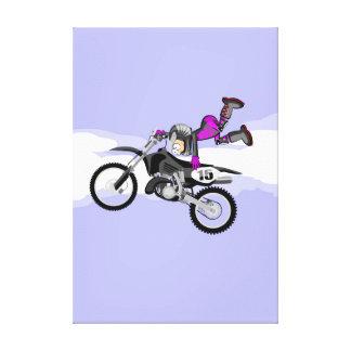 Toile Motocross enfant de l'équipement violette fait sa