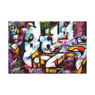 Toile Mots colorés de graffiti