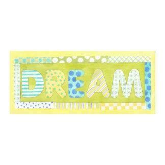 Toile Mots inspirés par rêve de Megan Meagher |
