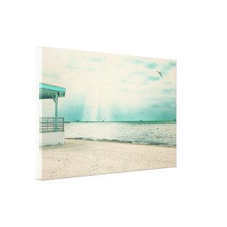 Toile Mouettes et belvédère à la plage Key West FL de