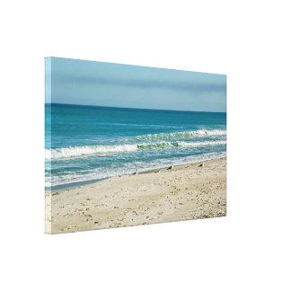 Toile Mouettes sur la plage