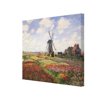 Toile Moulin à vent de Rijnsburg de champs de tulipe de
