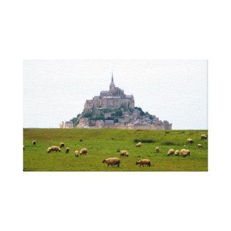 Toile Moutons frôlant à St Michel de Mont
