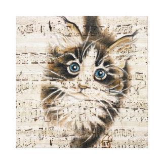 Toile Musique de Kitty de ragondin du Maine