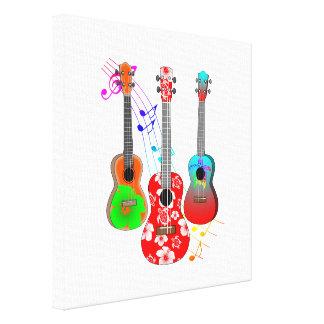 Toile Musique tropicale de joueur d'ukulélé d'île