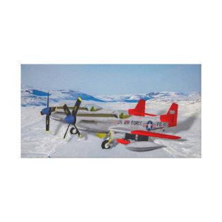 Toile Mustang F-82 jumeau de la commande d'air d'Alaska