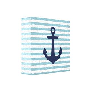 Toile nautique d'ancre de crèche toiles