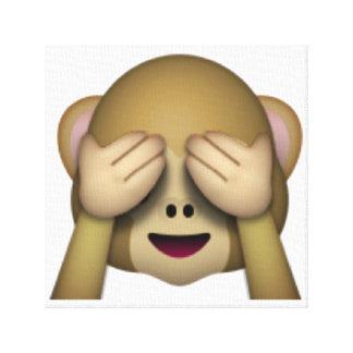 Toile Ne voir l'aucun singe mauvais - Emoji