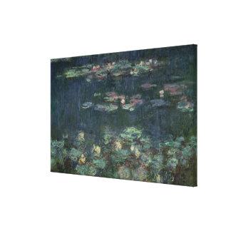 Toile Nénuphars de Claude Monet | : Réflexions vertes
