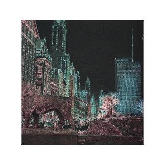 TOILE NÉON DU MUSÉE D'ART 1967 D'AVENUE DE CHICAGO