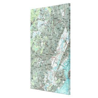 Toile Newark NJ et abords Map (1986)