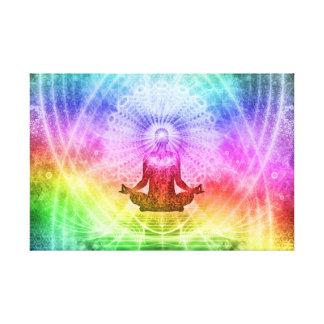 Toile Nirvana bouddhiste de méditation de yoga inspiré