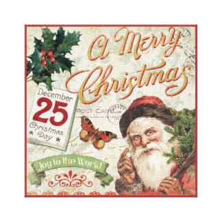 Toile Noël vintage le père noël