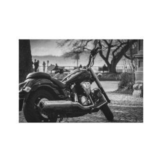 Toile Noir et blanc, moto