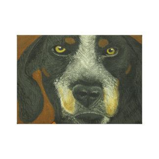 Toile Noir et chien de Brown
