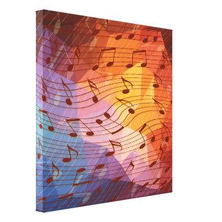 Toile Notes de musique