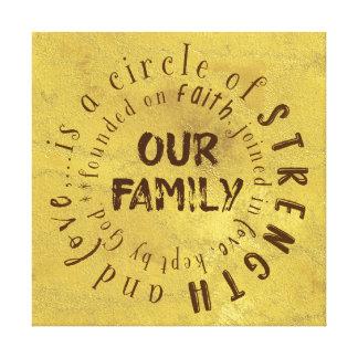 Toile Notre citation de famille : Cercle de force et