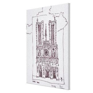 Toile Notre-Dame de Paris | Ille de la Cite de