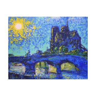 Toile Notre Dame de Paris Sunset, painted by Den Kuvaiev