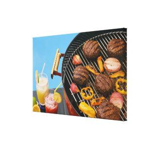 Toile Nourriture sur le gril