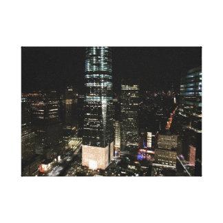 Toile Nuit d'architecture de gratte-ciel de New York