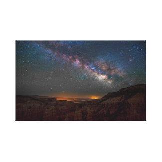 Toile Nuit de canyon de royaume des fées
