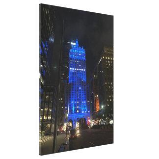 Toile Nuit de construction centrale de New York NYC Park