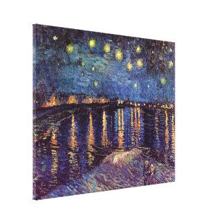 Toile Nuit étoilée de Van Gogh au-dessus du Rhône,