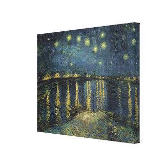 Toile Nuit étoilée de Vincent van Gogh | au-dessus du