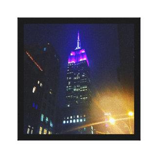 Toile Nuit pourpre d'Empire State Building de