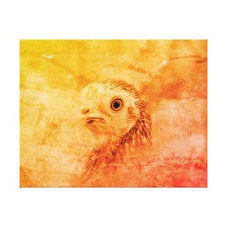 Toile Oiseau rustique