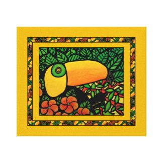 Toile Oiseau tropical coloré exotique de toucan