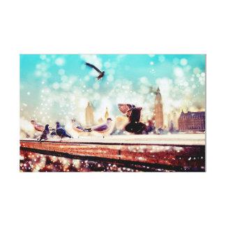Toile Oiseaux, mouettes - vue de la Tamise, Londres
