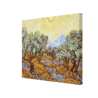 Toile Oliviers de Vincent van Gogh  , 1889