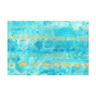 Toile Or dans l'art profond d'aquarelle de turquoise