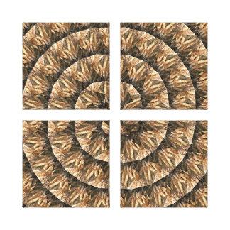 Toile Oreilles de blé dans un motif en spirale abstrait,