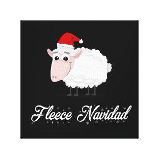 Toile Ouatine Navidad de moutons de bande dessinée