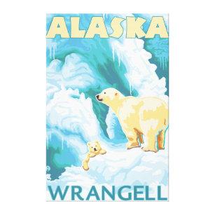 Toile Ours blancs et CUB - Wrangell, Alaska