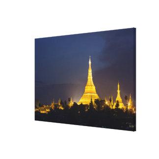 Toile Pagoda de Shwedagon la nuit