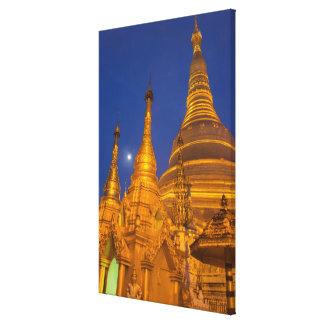 Toile Pagoda de Shwedagon la nuit, Myanmar