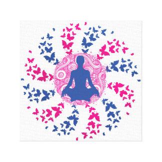 Toile paix de l'esprit positive d'énergie de méditation