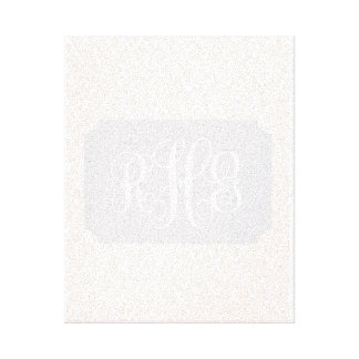 Toile pâle de roses pâles avec le monogramme fait toile tendue sur châssis