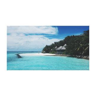 Toile Palmiers de la mer   des tropiques   de l'océan  