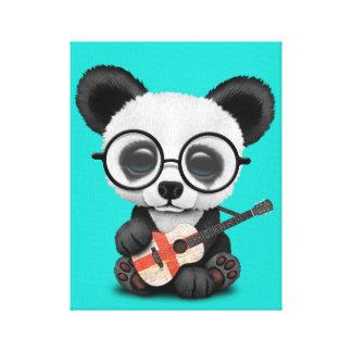 Toile Panda de bébé jouant la guitare anglaise de