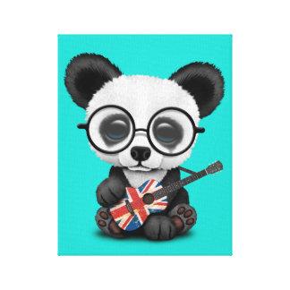 Toile Panda de bébé jouant la guitare britannique de