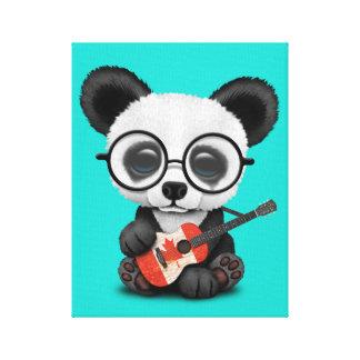 Toile Panda de bébé jouant la guitare canadienne de
