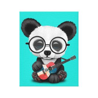 Toile Panda de bébé jouant la guitare dominicaine de
